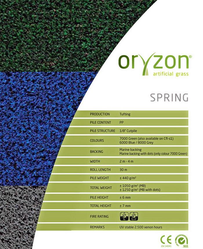 Искусственная трава Oryzon Spring